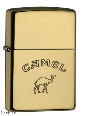 Zippo 1150004 Camel Words only - Brass high polished
