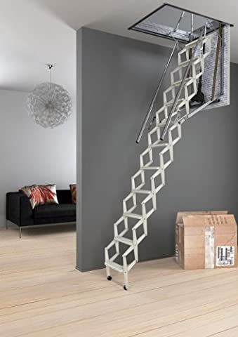Mister Step Esclamatic Retractable attic ladder in steel (motorized) 10