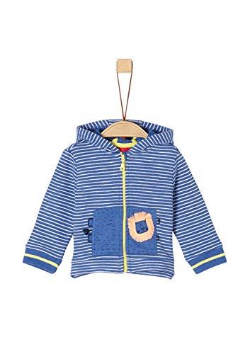 s.Oliver Baby-Jungen 65.904.43.5084 Sweatjacke, Blau (Blue Stripes 55g4), Herstellergröße: 62