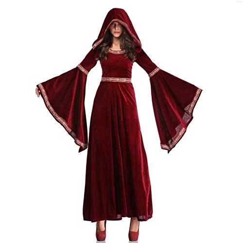 QIAO Halloween Vampire Sorcerer Kleid Retro Court Dress Up Kostüm (Passende Dress Up Kostüm)