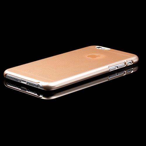Urcover® iPhone 6 6S Hülle, Polycarbonat Back Case mit - APPLE LOGO AUSSPARUNG - robustes Cover Schutz Hülle Smartphone Zubehör Schale Schutzhülle für Apple iPhone 6 / 6S Farbe: Rose Gold Style 1 Style 3
