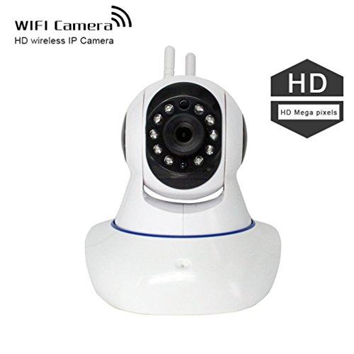 shengyaohul Full HD 720P Sicherheit im Haus-System IP-Kameras, Indoor White Baby Pet Monitor IP-Kamera mit Halterung für Apple und Android Telefone/Gegensprechanlage/Lieferung mit Pan/Tilt Überwachungskamera -