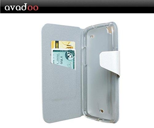 avadoo® Wiko Darkside Flip Case Cover in Arctic Weiß mit Magnetverschluss als Cover Tasche Hülle