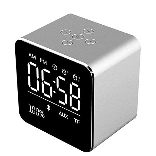 OPAKY tragbarer drahtloser Metall-Bluetooth-Lautsprecher Kabelloser Super-Bass-Mini-Lautsprecher für iPhone, Samsung usw.