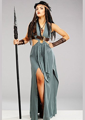 Delights Womens Green Warrior Viking Maiden Costume (L (UK ()