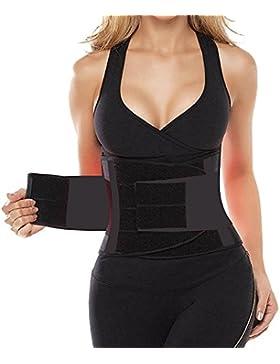 Camellias Mujer Cintura Entrenador Respirable Ajustable Cintura Belt Bodyshaper Cinturón para Hourglass Moldeador