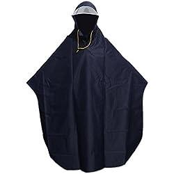 VORCOOL Herren Damen Fahrrad Radfahren Fahrrad Regen-Poncho Umhang mit Kapuze Winddicht Regen Mantel Elektromobil-, Outdoor, Camping-Zelt Matte mit transparent-blau (Navy)