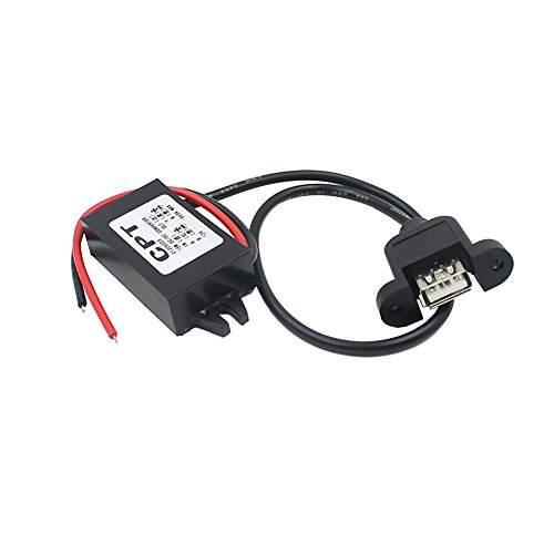 asiproper Wasserdicht DC 12V zu 5V 3A Single USB Auto Power Regulator für Auto