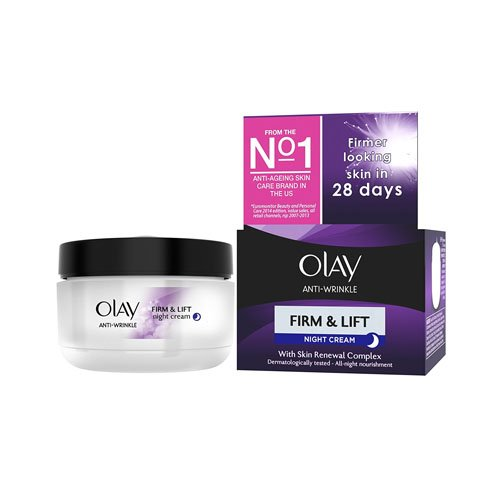 Olay Anti-Wrinkle Firm & Lift Night Cream 50 ml (Packaging Varies)