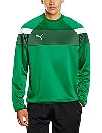 Puma–Sudadera para hombre Spirit II Entrenamiento Sudadera, otoño/invierno, hombre, color Verde - verde y blanco, tamaño 3XL