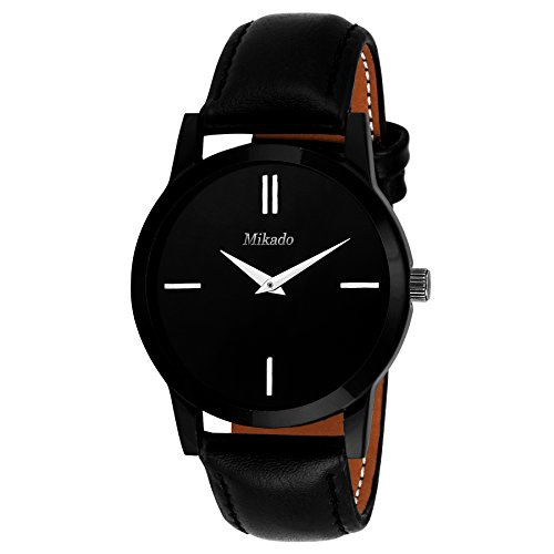 Mikado-Analogue-Black-Dial-Mens-Boys-Watch-Slim-Ds1