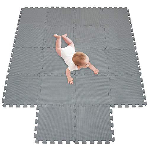 tappeto da fitness a puzzle set di 18 pezzi |superficie di protezione per pavimenti |materassino per palestra,workout, ginnastica |tappetino facile da pulire |efficace contro i liquidi e urti