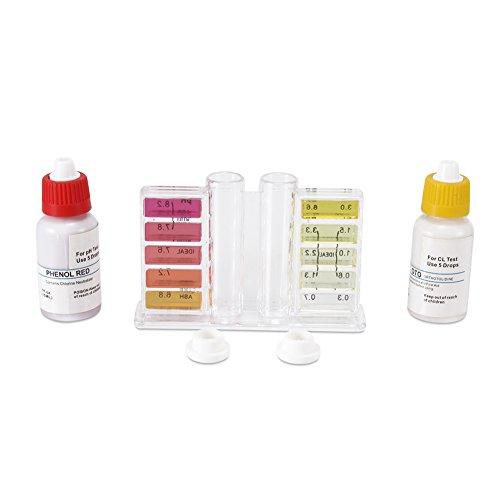 ROKOO 2in 1Wasser Test Kit mit Fall Chlor pH Testen für Schwimmbad -