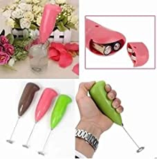 OSLC Hand Blender Milk Frother Wand Electric Machine Foam Maker for Coffee Latte Cappuccino Cordless Hot Chocolate Drink Mixer Whisker Egg Beater Juice Portable Milkshake Machine (Color May Very)