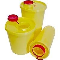 Preisvergleich für Kanülenabwurfbehälter Kanülenbox Abwurfbehälter Quickbox ver. Größen Kanülen(Größe : 1 Liter,Menge: 10x)