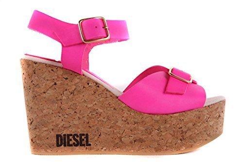 Diesel Damen Sandalen Plateau Wedge Pumps Pink #44 (40)