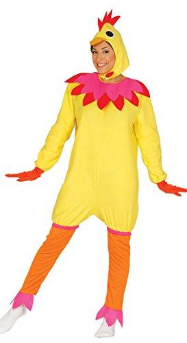Reißverschluss Vorne Kostüm Damen - Fiestas Guirca Huhn-Kostüm für Erwachsene