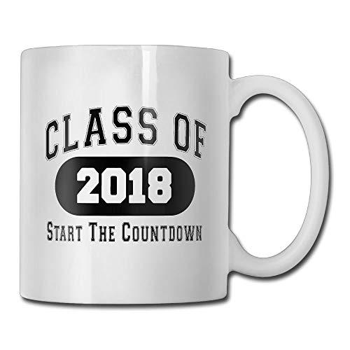 ss Of 2018 Start The Countdown 2018 Seniors Graduation Gifts - Gift Idea Coffee Mug Tea Cup Ceramic White 11 OZ ()