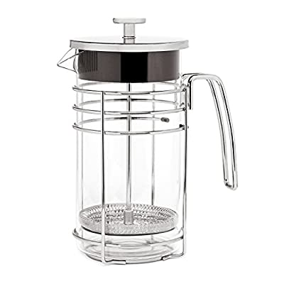 Lsydnfow Cafetiere French Press Coffee Maker 600ml/20oz, Coffee Press & Tea Makers with Heat Resistant Borosilicate Glass and 304 Grade Stainless Steel