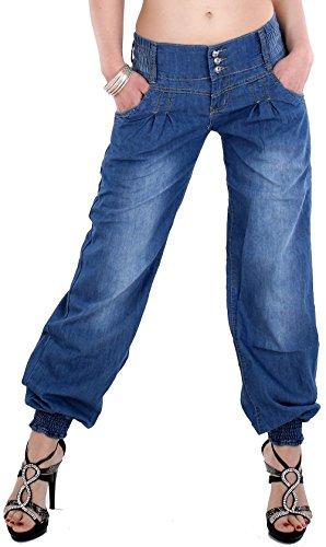 Harem Damen Jeans (Omkara Styles Damen Sexy Haremshose Pumphose Pluder Boyfriend Sarouel-Aladin Harem Hose Jeans 880 (L - 40))