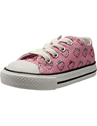 b3f1f9b7397 Converse Chuck Taylor All Star Hello Kitty Ox Prism Pink White Textile Baby  Trainers