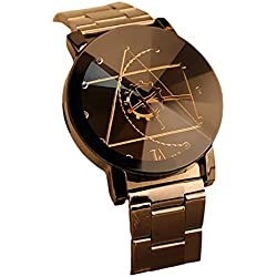 Familizo Stainless Steel Women Quartz Analog Compass Needle Wrist Watch Black