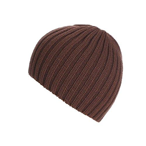 Knit Winter-schal (Strickmützen,Amlaiworld Unisex warm knit ski baggy Cap winter Hat (Kaffee))