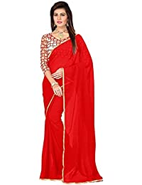 Fantasy Trendz Chiffon Saree For Women With Lace Border And Embroidered Blouse Piece