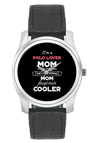 BigOwl I'm A Foodie Mom Just Like A Normal Mom Except Way Cooler | Gift for Foodie Fashion Watches for Girls - Awesome Gift for Daughter/Sister/Wife/Girlfriend - Casual Quirky Typography Designer Analog Leather Band Watch (Perfect Gift for Girls)