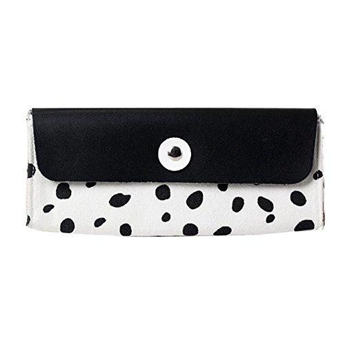Lucky Will leopardo zebra Tela astuccio penna borsa trucco Pouch Cosmetic Storage Bag Pen Holder Carrier per donne e ragazze nero - Zebra Porta Penne