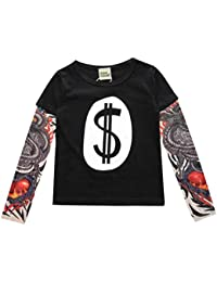 Yying Boy Tattoo Tshirt Camiseta Niños Dibujos Animados Niños Niños Camiseta Ropa para Niños Ropa para Bebés Camisetas para Niños