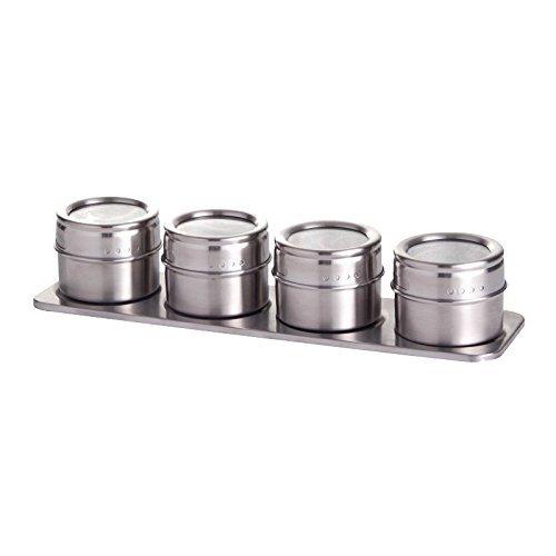 Westmark 65152260 Ensemble de boîtes à épices 5 pièces Acier Inoxydable, Argent, 27,5 cm