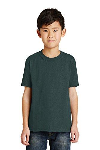 Port & Company Jungen 50/50Baumwolle/Poly T Shirt Gr. Medium, dunkelgrün - Pc55y Port