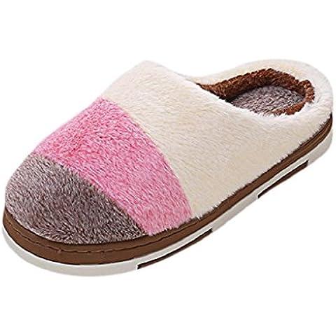 Sannysis Zapatos diseño de antideslizante zapatillas de invierno para hombres y mujer (Mujers EU 40-41,