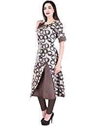 Bright Cotton Long Kurtis For Women Printed Top Kurtas BCOWN-049-42