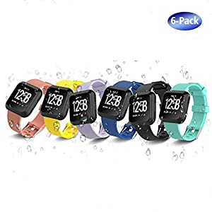 iCozzier Ersatz-Armband für Fitbit Versa Smartwatch, verstellbar, weiches Silikon, verschiedene Farben für Fitbit Versa Smartwatch, Größe S (14 cm – 18 Zoll), Größe L (18 cm – 22 cm)