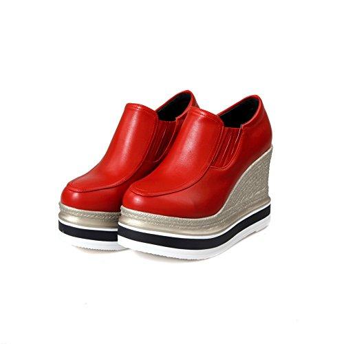 BalaMasa da donna con tacco alto a punta tonda, pompe elastico in plastica, per scarpe Red