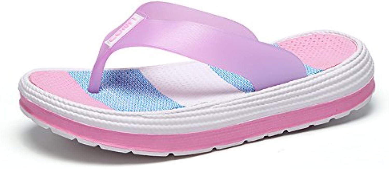 Zaone Chanclas Mujer Verano Playa Piscina Flip Flop Slippers con Plataforma 36-41