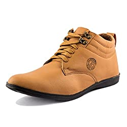 Golden Sparrow MenS Tan Fabric Synthetic Casual Shoe (Tm-P41-06)- 6 Uk