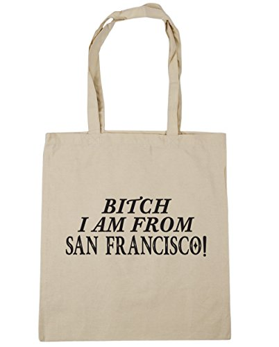 hippowarehouse-perra-i-am-from-san-francisco-tote-compras-bolsa-de-playa-42-cm-x38-cm-10-litros-beig