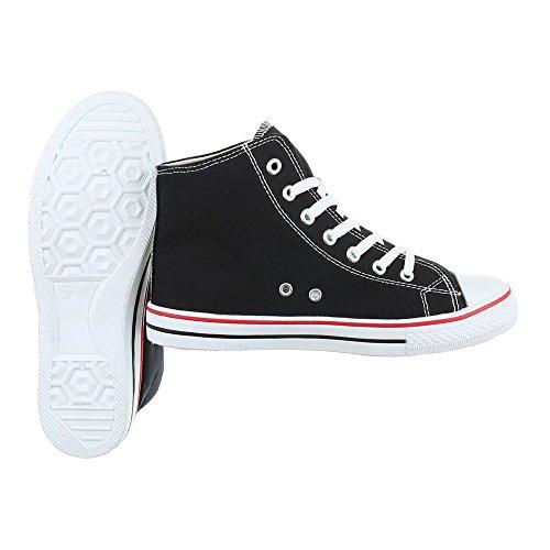 Ital-Design, Sneaker donna Schwarz SW15277