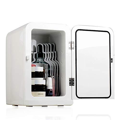 Auto Kühlschrank 5L Mini Kühlschrank tragbare Haushaltswärmer Schlafsaal Outdoor Camping kleinen Kühlschrank Weinkühler NYGJMNBX (Farbe : Weiß)