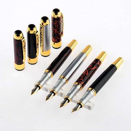 Gullor 4 Stück Jinhao 250 Füllfederhalter in 4 Farben, 2 Arten von Schreibfedern