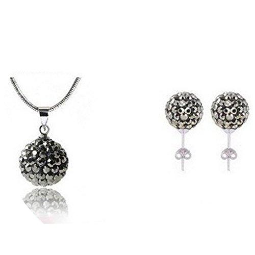 Lobwerk Halskettenanhänger + Ohrringe Set (ohne Kette) Hochzeit Abend Kette Statementkette Charms Necklace NEU