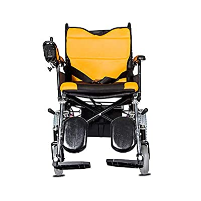 GYH Electric Wheelchair, Foldable Portable Care Four-Wheeled Scooter,Elderly Disabled Electromagnetic Automatic Brake Wheelchair, Load Capacity?100kg (#)
