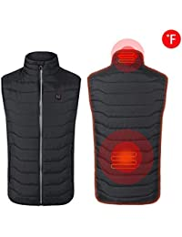 Chen0-super Electric Heated Vest USB Rechargeable Insulated Heated Vest Washable Serrated Body Warmer Gilet for Neck and Back,for Outdoor Hiking Camping