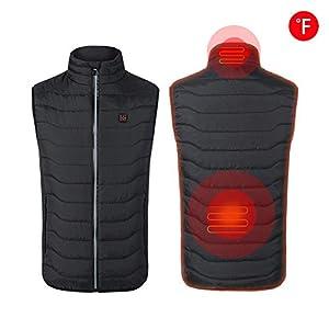 Beheizte Weste wiederaufladbare USB-Lade einstellbar Winter warme Weste elektrische Jacke Heizung Kleidung Thermo Weste für Rückenschmerzen Outdoor Jagd Camping Wandern Motorrad (keine Batterie)