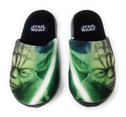 Star wars pantofole-pantofole per interni, per bambini, motivo yoda, del 27 a 34, verde (verde), 29-30