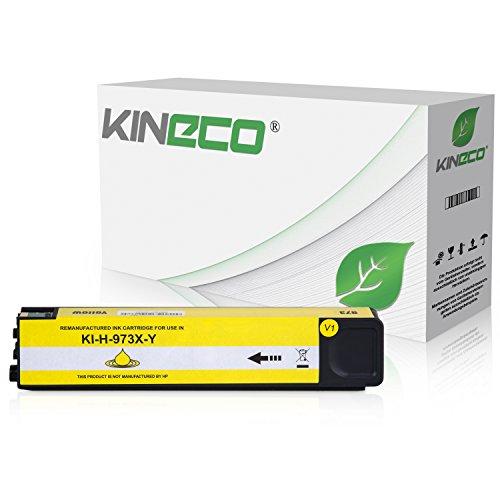 Kineco Tintenpatrone kompatibel zu HP 973X für PageWide Pro 452dn 452dw 452dwt 477dn 477dw 477dwt 552dw 577dw 577z - Yellow -