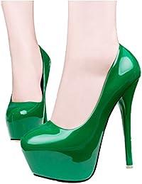 Xianshu Charol boca baja boca zapatos de tacón alto plataforma bombas